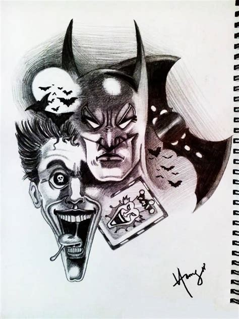 joker batman tattoo designs 38 batman joker tattoos