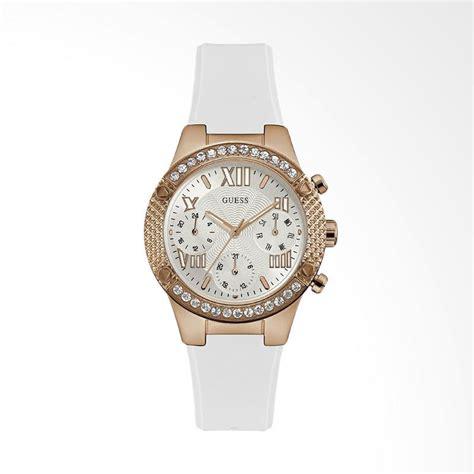 Jam Tangan Wanita Sport Guess Crhono On Stainless Steel 2 jual guess multi tali silikon jam tangan wanita