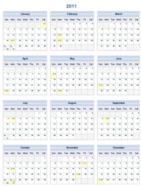 printable calendar year on one page 2013 printable pdf one page calendar yearly