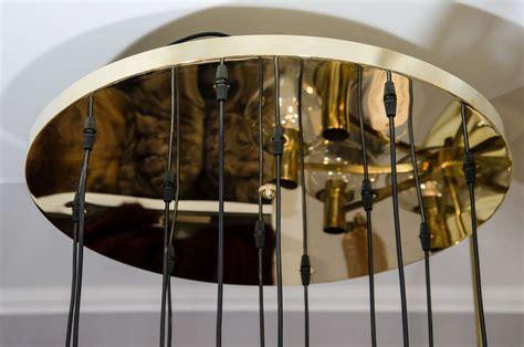 Custom Twelve Globe Chandelier With Brass Canopy For Sale Chandelier Canopies