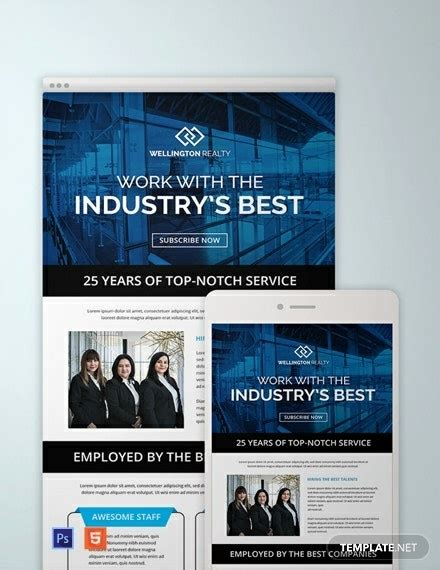 marketing newsletter templates photoshop html
