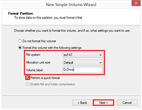 format exfat kilobytes how to format a g technology drive in exfat g technology