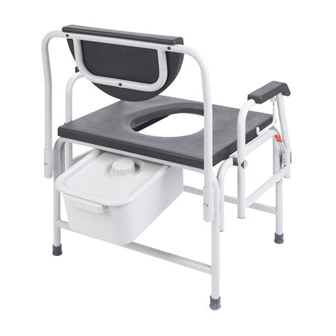 Large Bedside Commode by Heavy Duty Large Drop Arm Bedside Commode Bariatric Seat