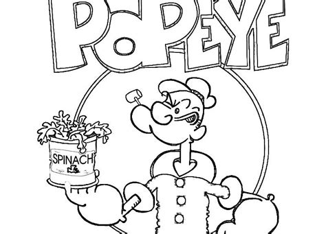 Drawing Of Popeye The Sailor