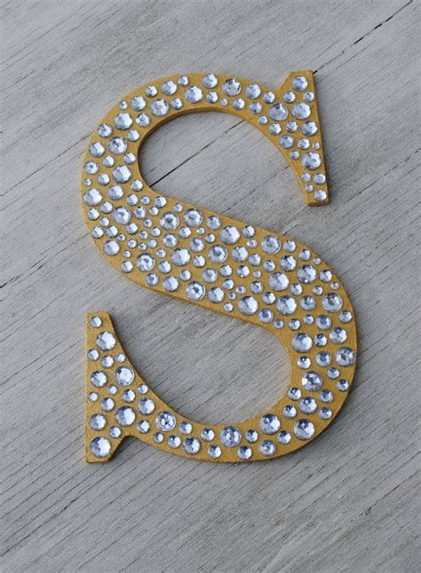 Letter Decoration Sparkle Gold Bling Decorative Wall Letters Wedding Decor Decorative Wall Letters Decorative