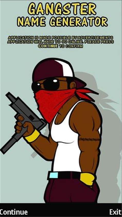 gangster names gangster name generator symbian