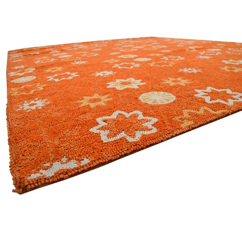 white and orange rug 67 obeetee obeetee orange white floral rug decor