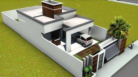 casa 3d modelos de plantas de casas 70m2 2 quartos na
