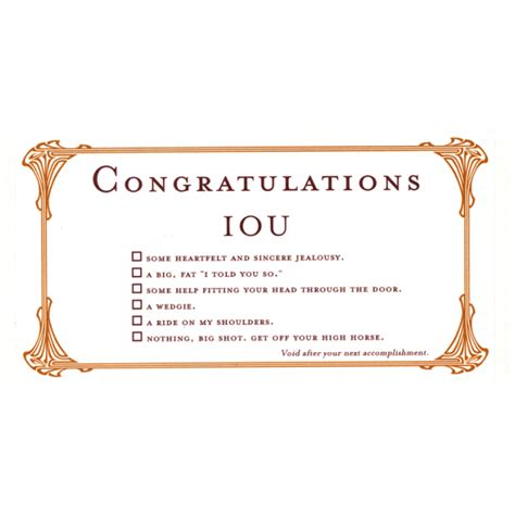 quiplip congratulations greeting card from the iou