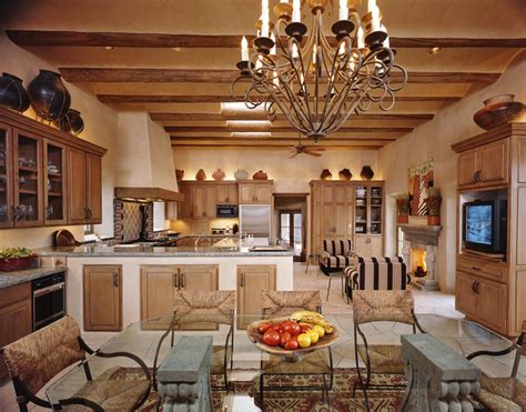 Attractive Southwestern Fireplaces #5: Mediterranean-kitchen.jpg