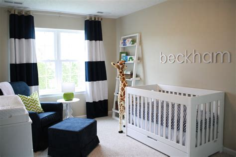 Beckham S Preppy Nursery Project Nursery Baby Boy Curtains For Nursery