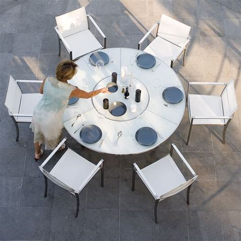 outdoor white glass dining table outdoor dining tables