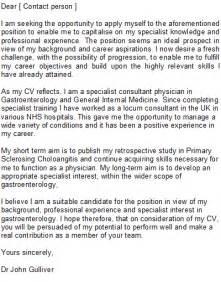 Cover Letter Exles For Doctors by Doctor Cover Letter Sle