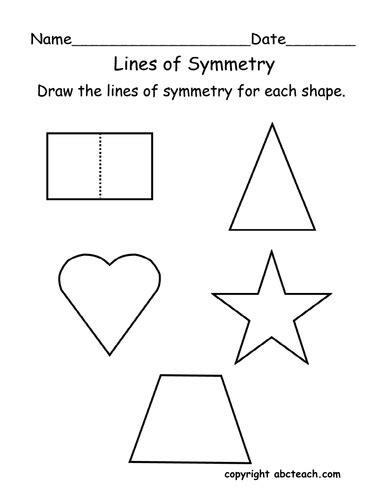 Lines Of Symmetry Worksheet by Worksheet Lines Of Symmetry Primary By Abcteach