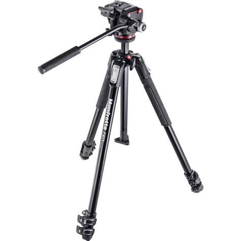 Tripod Manfrotto 190 X manfrotto 190x3 three section tripod with mhxpro 2w mk190x3 2w