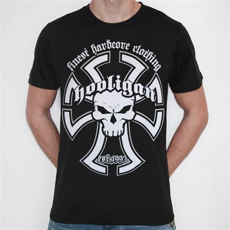 Tshirtt Shirtkaos Hooligan Hooligan Templar Black T Shirt With Frontprint
