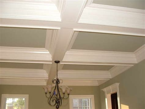 coffered ceiling paint ideas foam crown molding with grey walls moldings