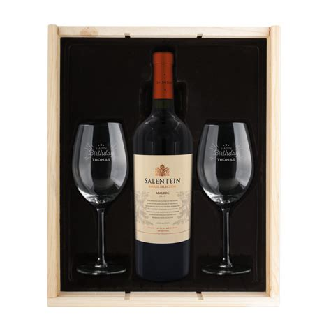 wine package salentein malbec with 2 glasses yoursurprise