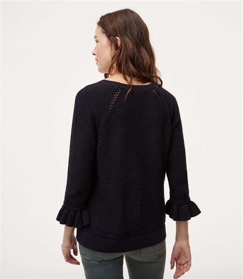 Sweater Steve Angelo lyst loft ruffle cuff sweater in black