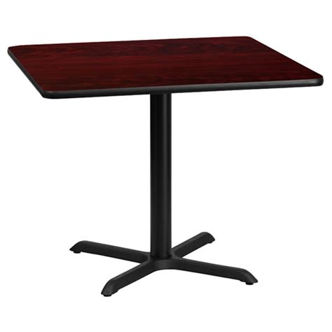 36 Square Dining Table 36 Quot Square Dining Table Black Mahogany Pedestal Base Dcg Stores
