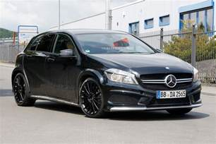 spyshots mercedes a45 amg black series spotted at
