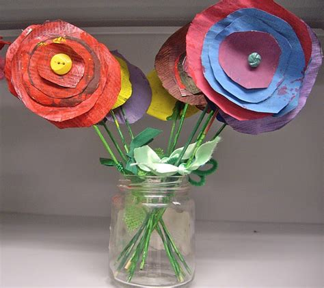 Paper Crafts Recycled Newspaper - recycled paper flowers crafts
