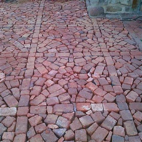 Brick Wall Pavers Patio Project Using Broken Brick Pavers
