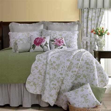 Green Toile Bedding by Object Moved
