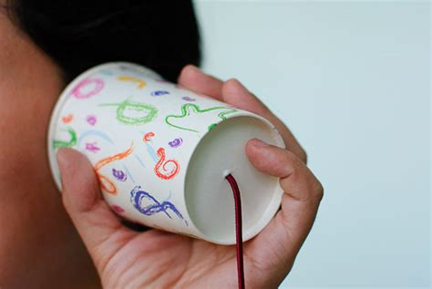 paper cup telephone craft mask crafts for