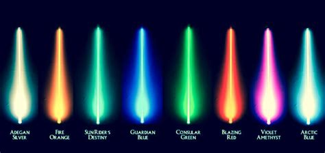 different lightsaber colors lightsaber colors wars wars light saber