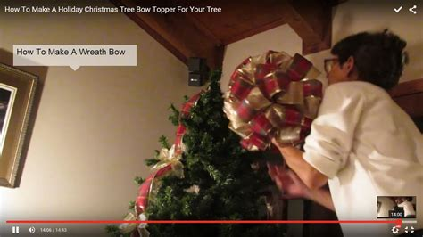 how to make bows for top of christmas tree how to make a tree bow topper