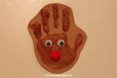 DIY Reindeer Handprint Ornament Craft for Kids   Coffee Cups and Crayons