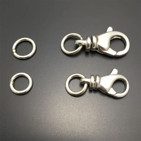 sterling silver swivel clasp soldered rings sterling silver