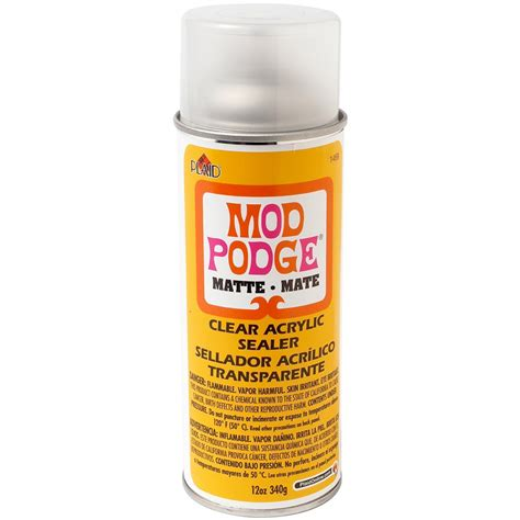 how to seal spray paint buy mod podge clear sealer matte 12 oz