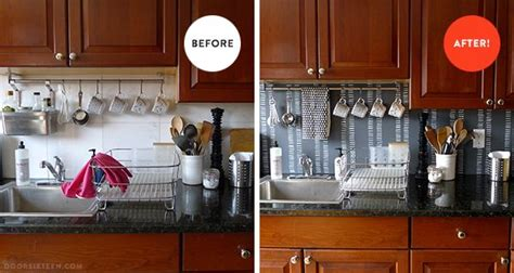 how to cover an ugly kitchen backsplash way back temporary diy backsplash 42 pinterest com pin find