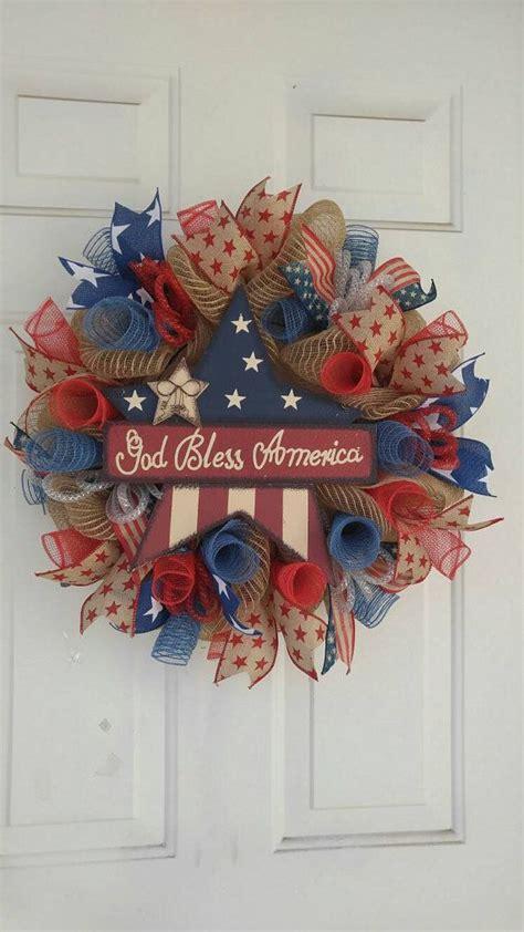 ideas    july wreaths  pinterest   july wreath patriotic wreath