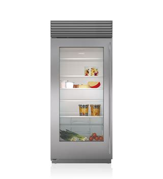 refrigerator with glass door for homes builtin refrigerators refrigerator sub zero wolf