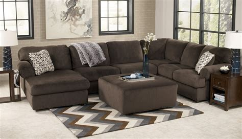 jessa sectional jessa place collection chocolate sectional sofa