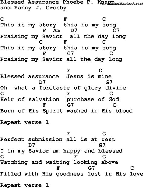 Blessed Assurance Guitar Chords