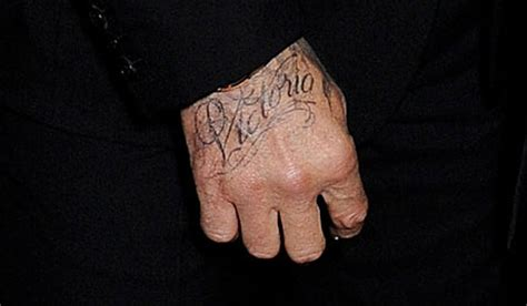 david beckham hand tattoo david beckham shows new beckham