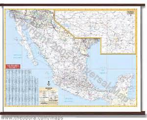 Mexico Wall Map by Deluxe Laminated Wall Map Of Mexico 69 Quot X54 Quot 1 75m X 1 37m