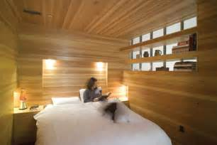 Wooden Interior Design by Entirely Wood Unusually Warm Bedroom Interior Design