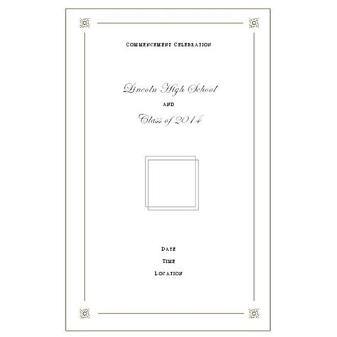 Want To Make Your Own Graduation Program Templates Make It Easy Preschool Graduation Program Template 2