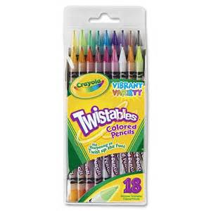 crayola twistable colored pencils crayola twistables colored pencil cyo687418