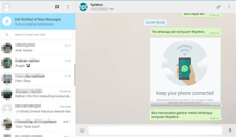 tutorial aplikasi whatsapp tutorial menggunakan whatsapp di komputer hptekno