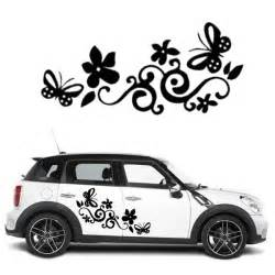 butterfly flower cars wall stickers car window sticker