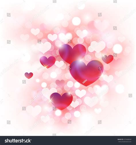 valentine background with two stylish abstract background valentines day cute pink stock vector