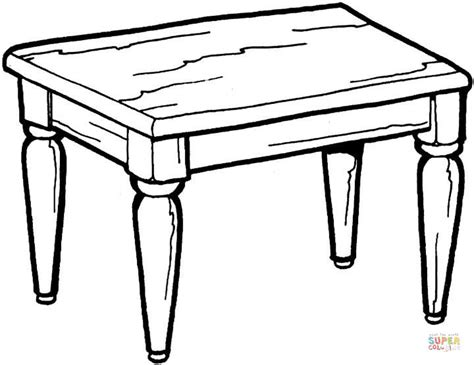 coloring table kitchen table coloring page free printable coloring pages