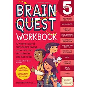 Brain Quest Workbook Grade 5 gifts for 10 year boys 2018 buzz