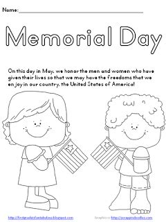preschool coloring pages for memorial day memorial day worksheets printable kids memorial day